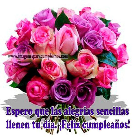 Flores Con Bonitos Mensajes De Cumpleaños Ramos De Flores