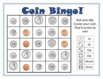 Coin Bingo | Teaching money, Learning money, Second grade math