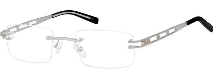 c6da5ae0dc71 Zenni Mens Lightweight Rimless Prescription Eyeglasses Silver ...