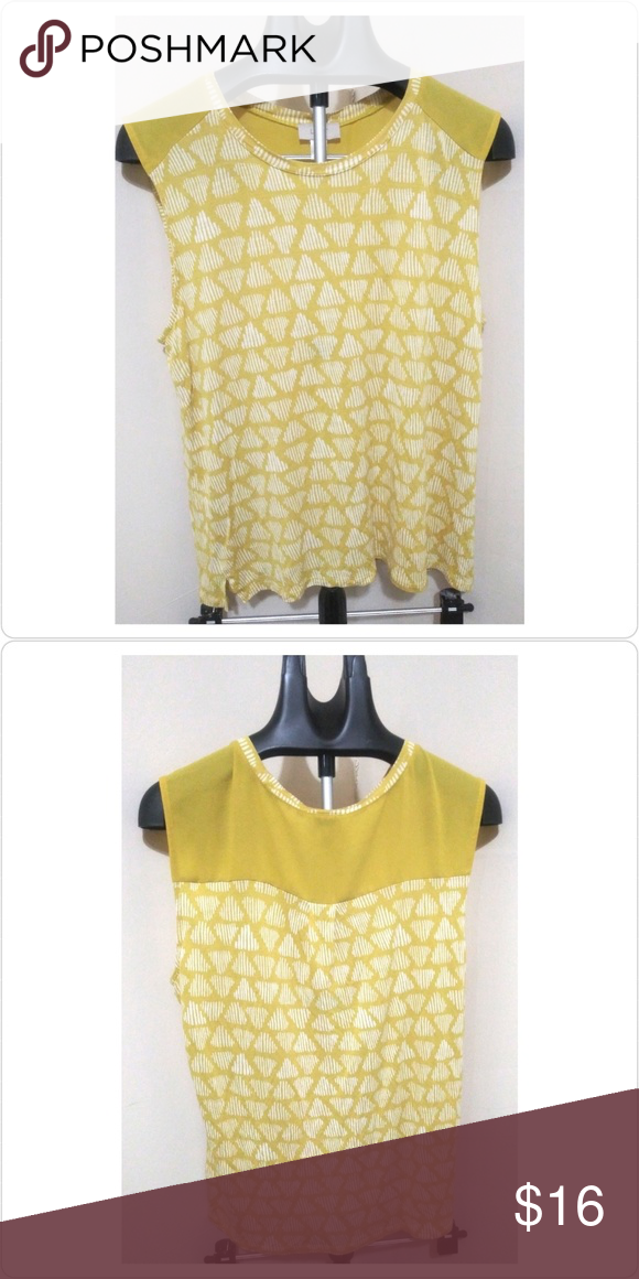 Loft Outlet Sleeveless Scoop Neck Yellow Blouse Preowned good condition yellow scoop neck sleeveless blouse. No pilling. This blouse is good for warm weather but could be worn with a blazer for colder weather. LOFT Tops Blouses