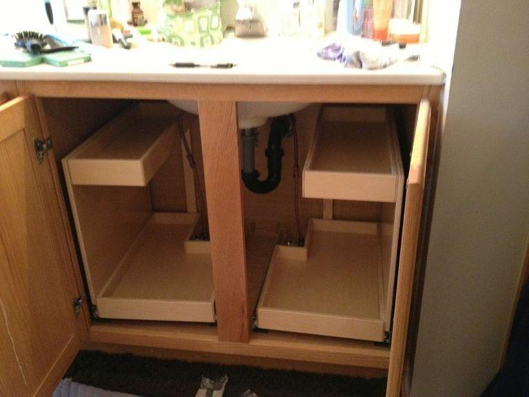 Roll Out Under Sink Storage From Shelf Genie Bathroom Vanity Storage Sliding Shelves Small Bathroom Cupboard