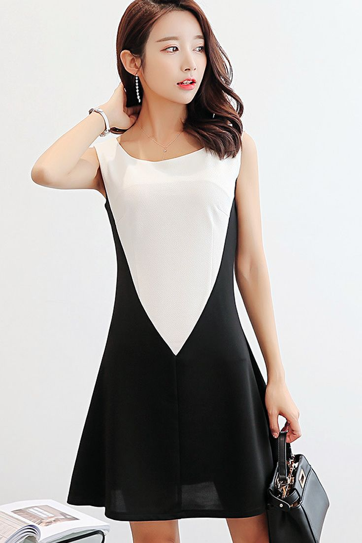 Black White Candy Dress, South Korea Airport Fashion Kpop Drama ...