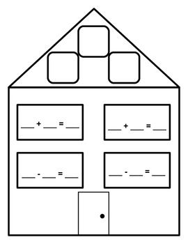 Number Names Worksheets : fact family houses template ~ Free ...