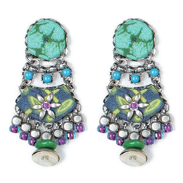 earring verde-azulado