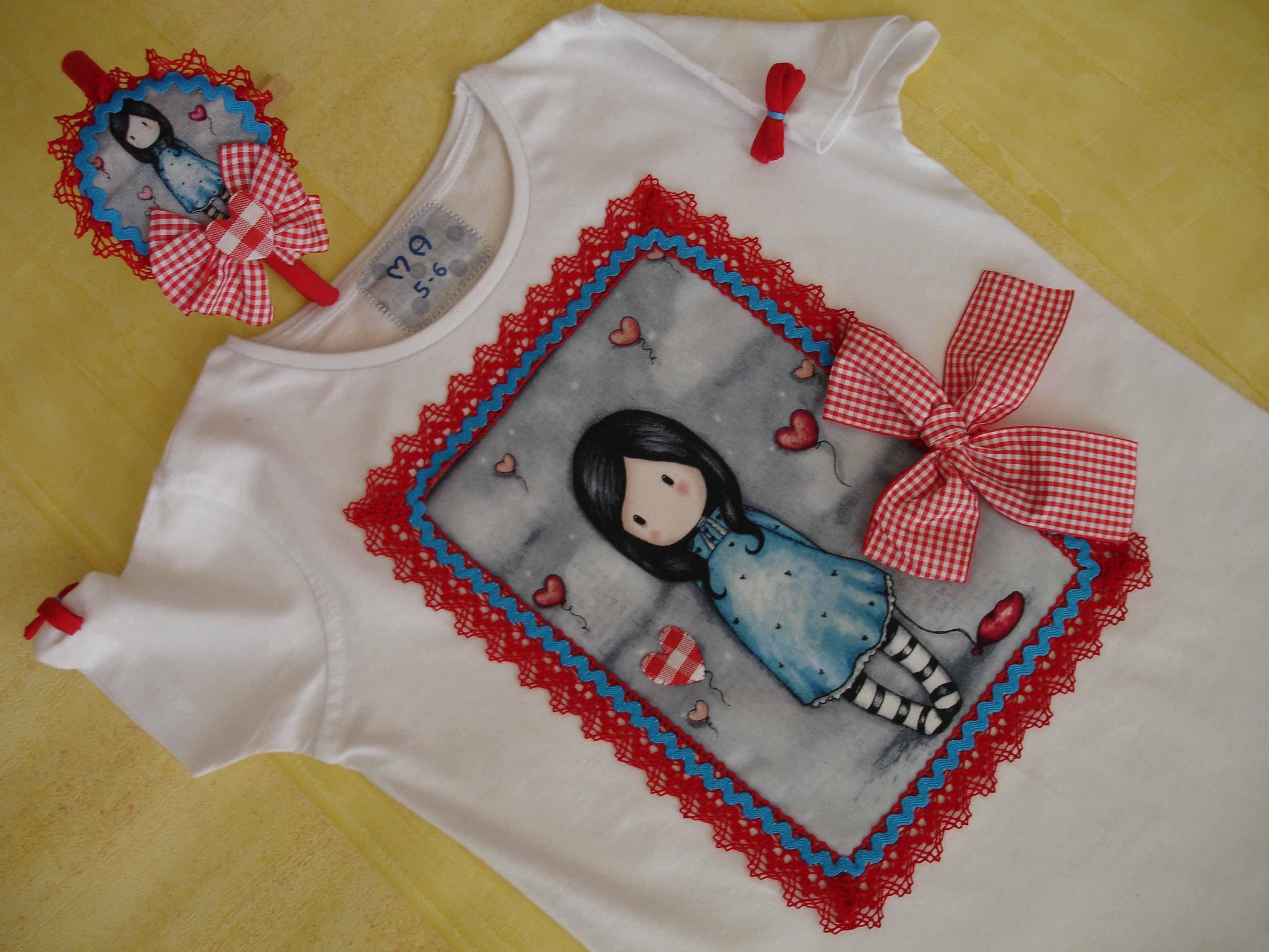Camiseta gorjuss aplicaciones patchwork para camisetas for Aplicaciones decoradas