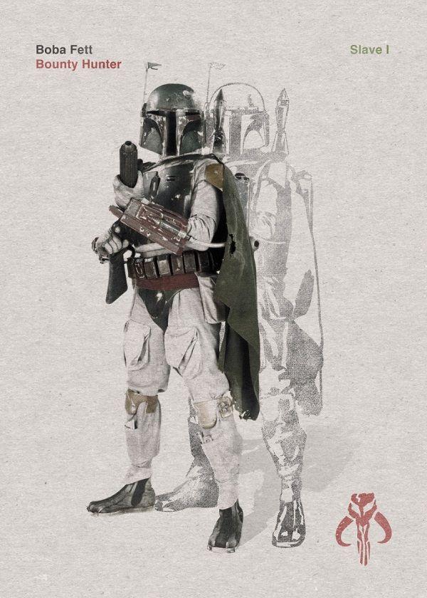 "Official Star Wars Vintage Cuts Boba Fett #Displate explore Pinterest""> #Displate artwork by artist… | Displate thumbnail"