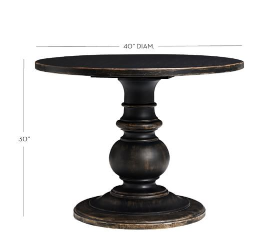 Dawson Round Wood Pedestal Table Pedestal Table Round Foyer Table Pedestal Side Table