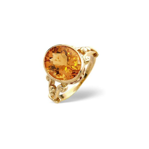 Golden Citrine Ring In 9 Carat Yellow Gold