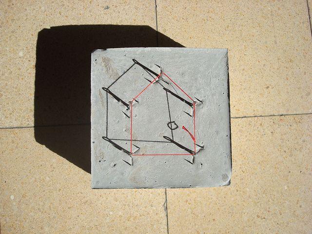 Concrete - hooks, string, concrete by Sharon Pazner, via Flickr