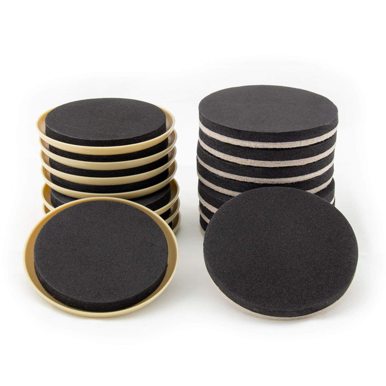 Furniture Moving Kit Set Of 16 Furniture Sliders Coasters For Carpet And Hardwood Tile Floor Furniture Sliders Moving Kit Felt Furniture Pads