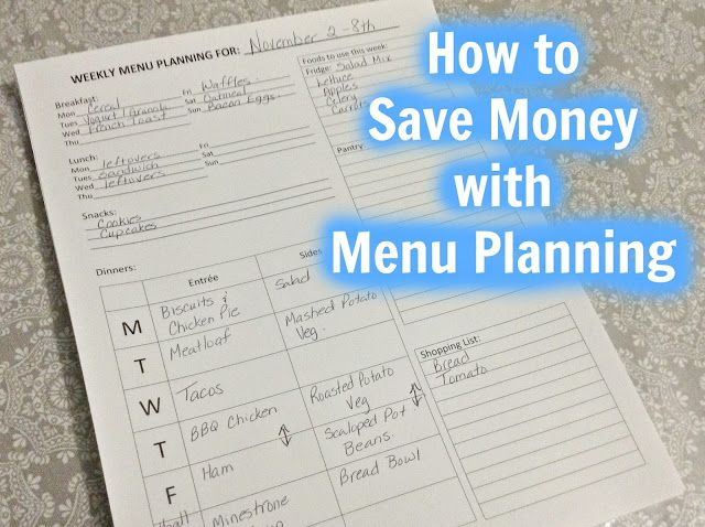 How to Save Money with Meal Planning