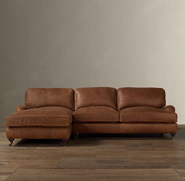 Perfect English Roll Arm Leather Left Arm Sofa Chaise Sectional   I Like It But The  Same As What I Have Today In Chairs.