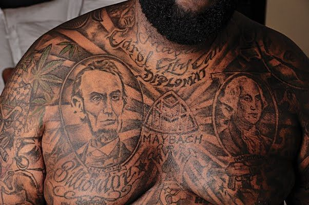 Rick Ross Back Tattoos Pin Rick Ross Tattoos On Urban Tattoos Tattoos Rick Ross Tattoos