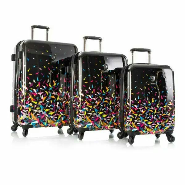loved the design on these luggage bags