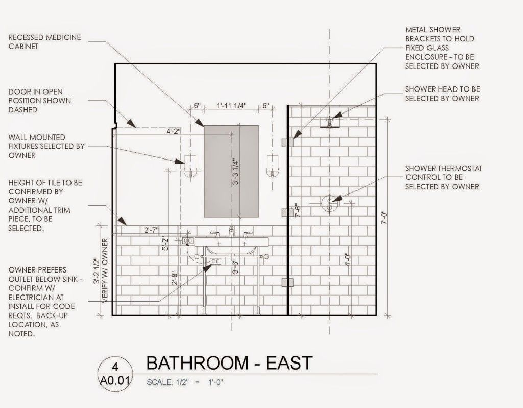 Image Result For Standard Bathroom Shower Elevations With