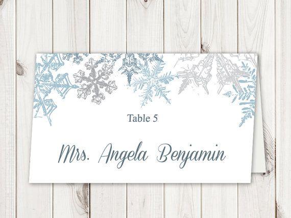 Pin On Winter Wedding Invitation Templates Snowflakes