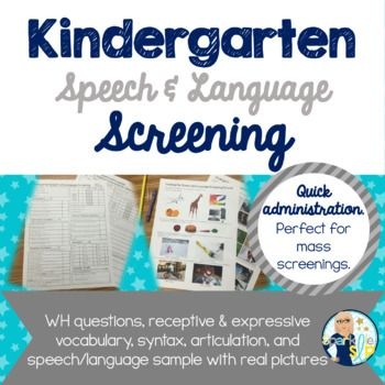 Kindergarten Speech And Language Screening Kindergarten Language