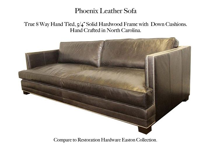 Phoenix Leather Sofa by Casco Bay Furniture. Compare to the Easton ...