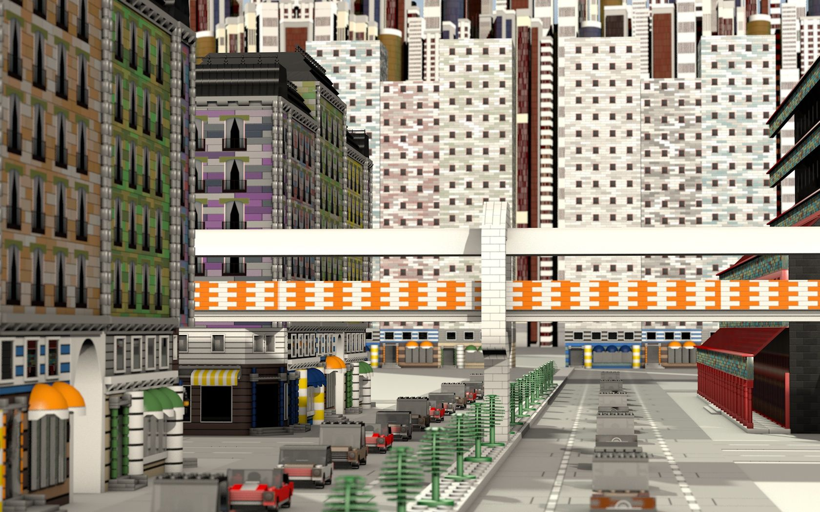 Huge Lego City made in