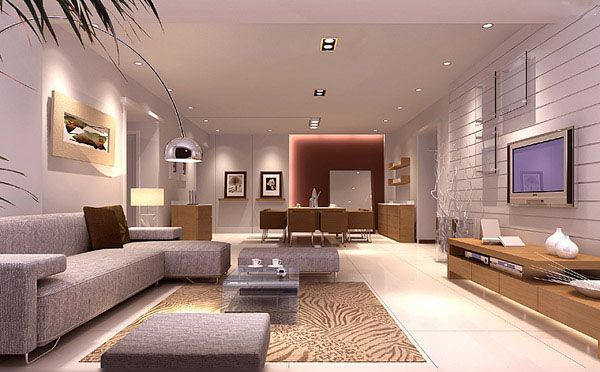 awesome black living room 3d model | Living Room 3ds max model download-4-Download 3d Model ...