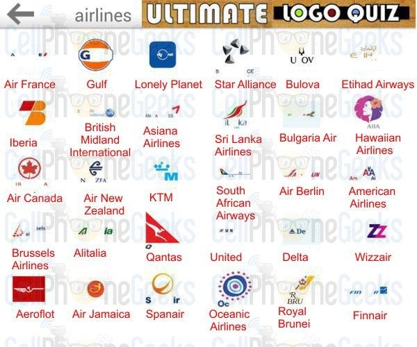 Logo Quiz Ultimate Airlines Video Games I Play Pinterest Logos
