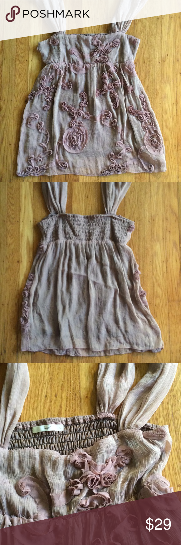 🎀HAZEL Shimmering Top🎀 Dress up or dress down with this wonderful rusty blush pink with shimmering of gold in the material. Worn probably once. Purchased from Nordstrom. Hazel Tops Tank Tops