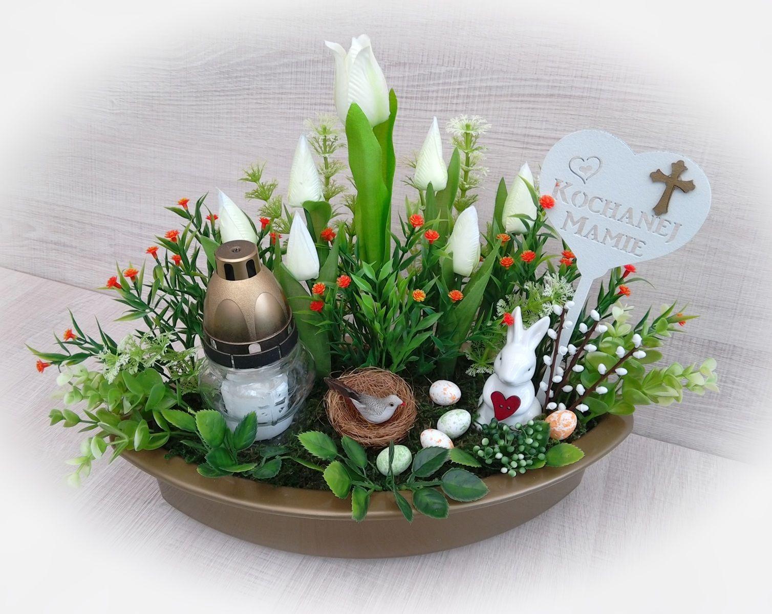 Stroik Wielkanocny Na Cmentarz Table Decorations Diy Decor