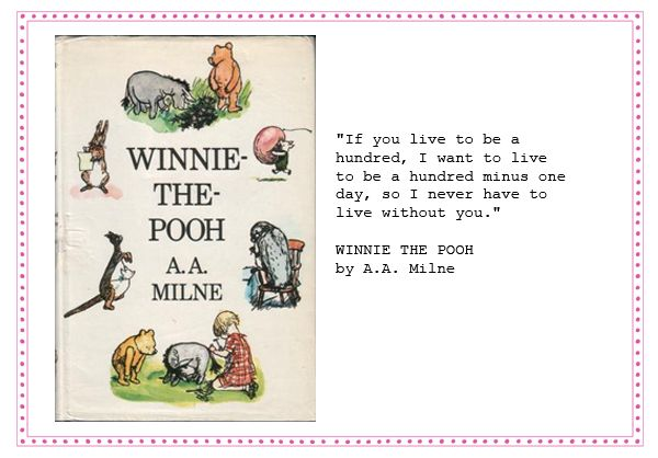 Winnie the pooh wedding reading