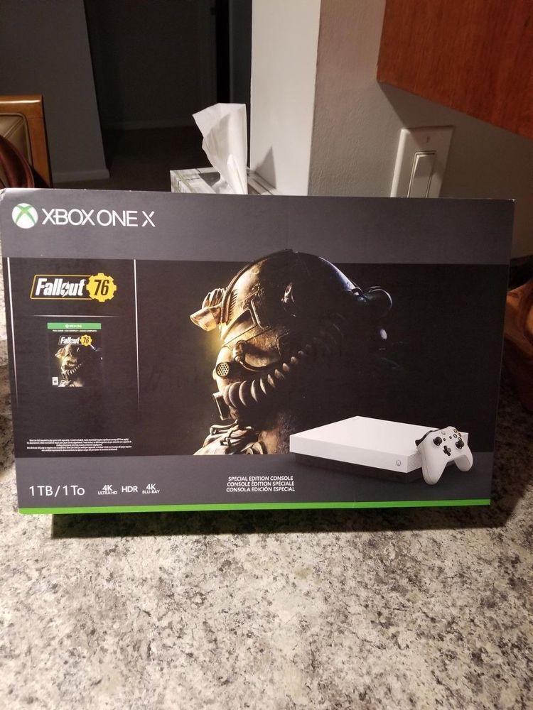 Microsoft Xbox One X 1tb Fallout 76 Console Bundle White Black Xboxone Xbox Game Xbox One Elite Controller Xbox One Xbox