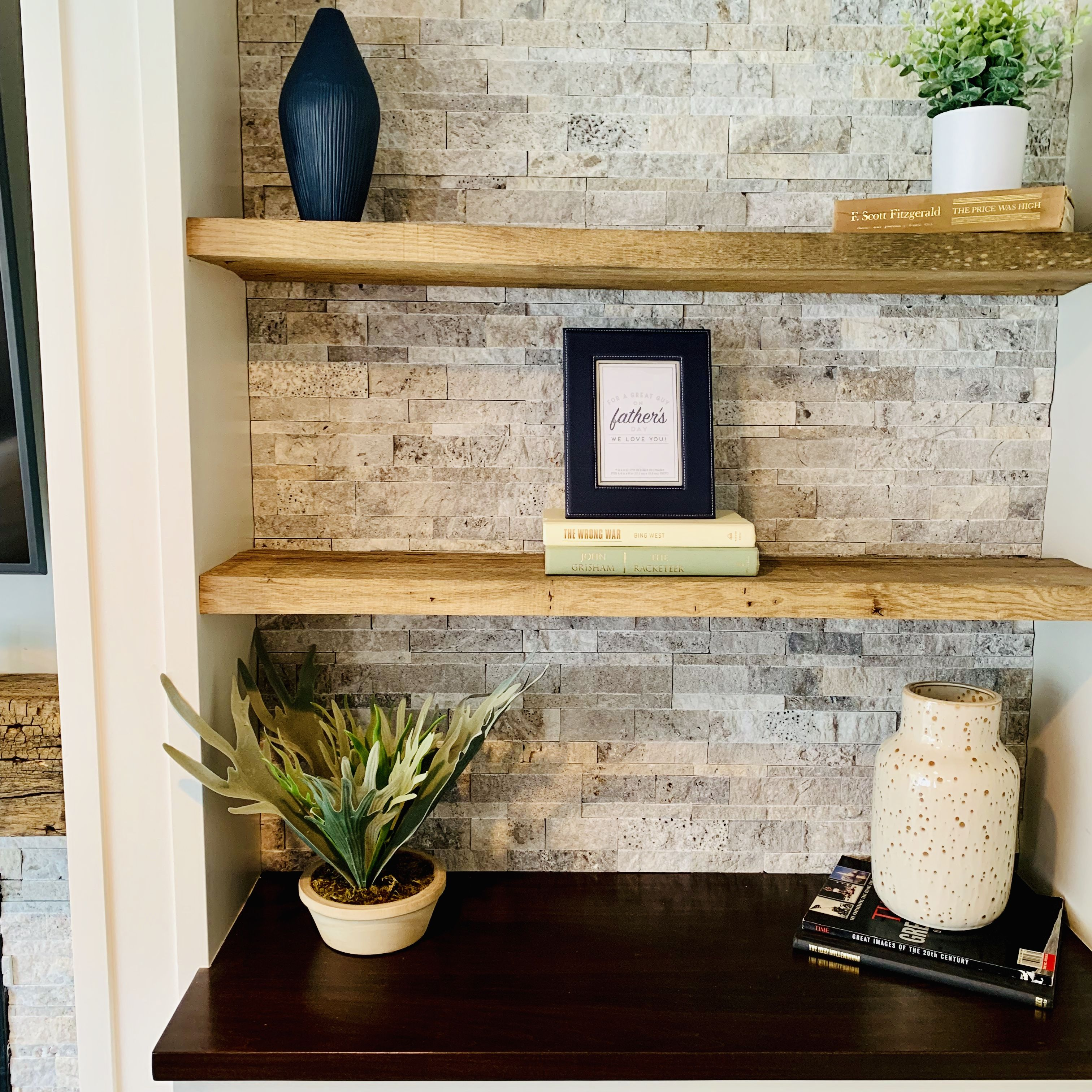 Finished Basement Fireplace Styling Minnetonka Mn Finishing Basement Shelf Decor Shelf Staging