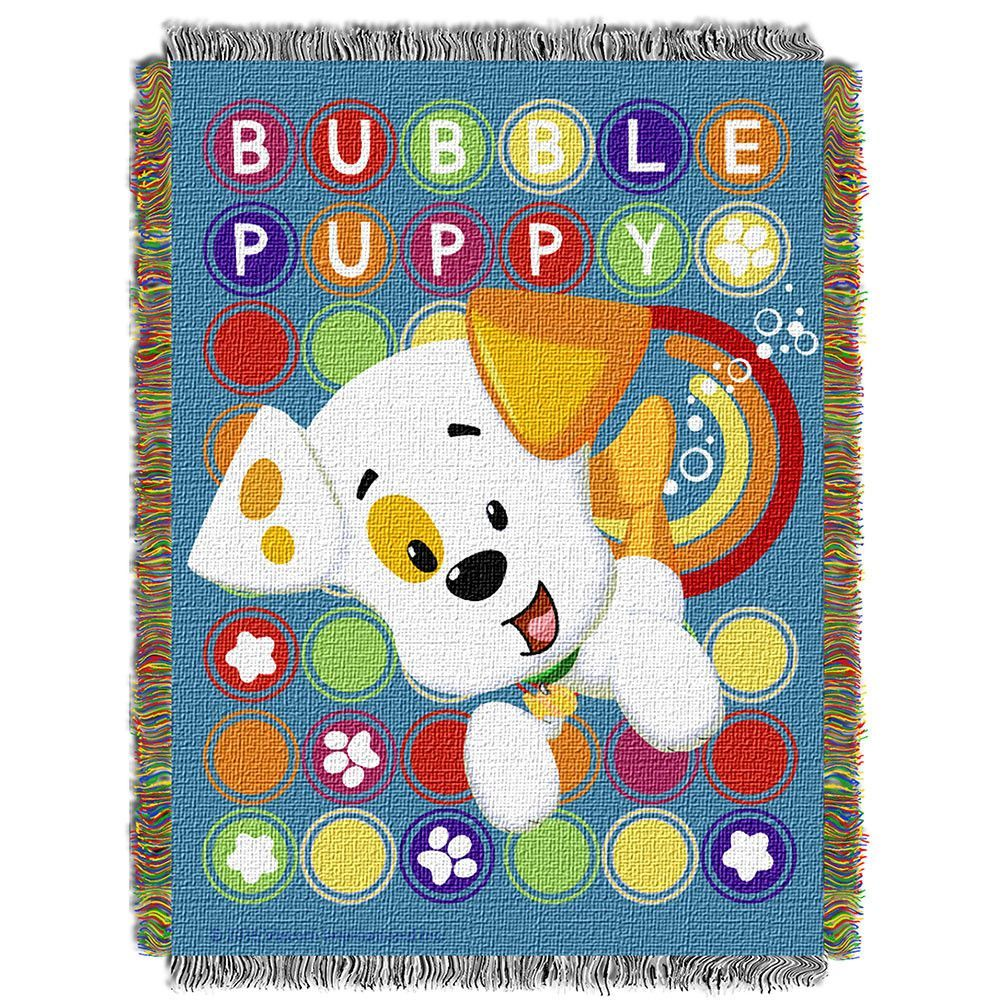bubble guppies puppy pop woven tapestry throw 48inx60in