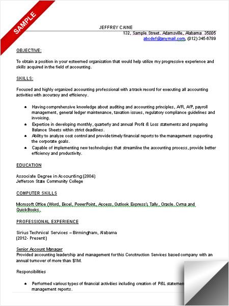 Accounting resume sample | Resume Examples | Pinterest | Resume examples