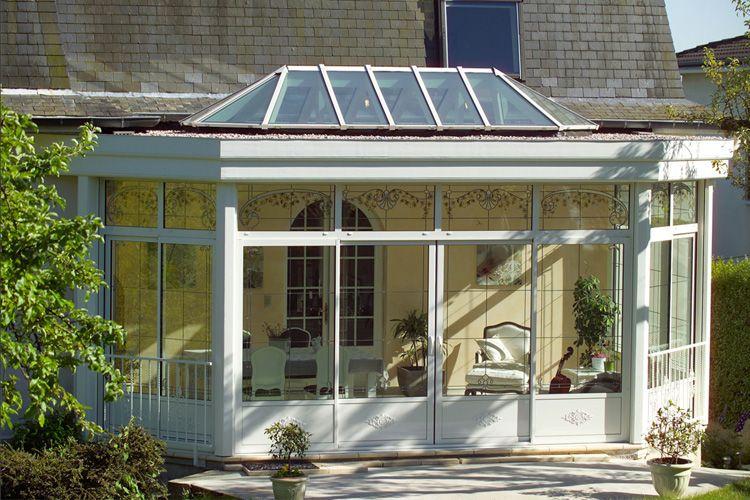 Verrières - Puit de lumière - wwwsilice-cambium מרפסת זכוכית - puit de lumiere maison