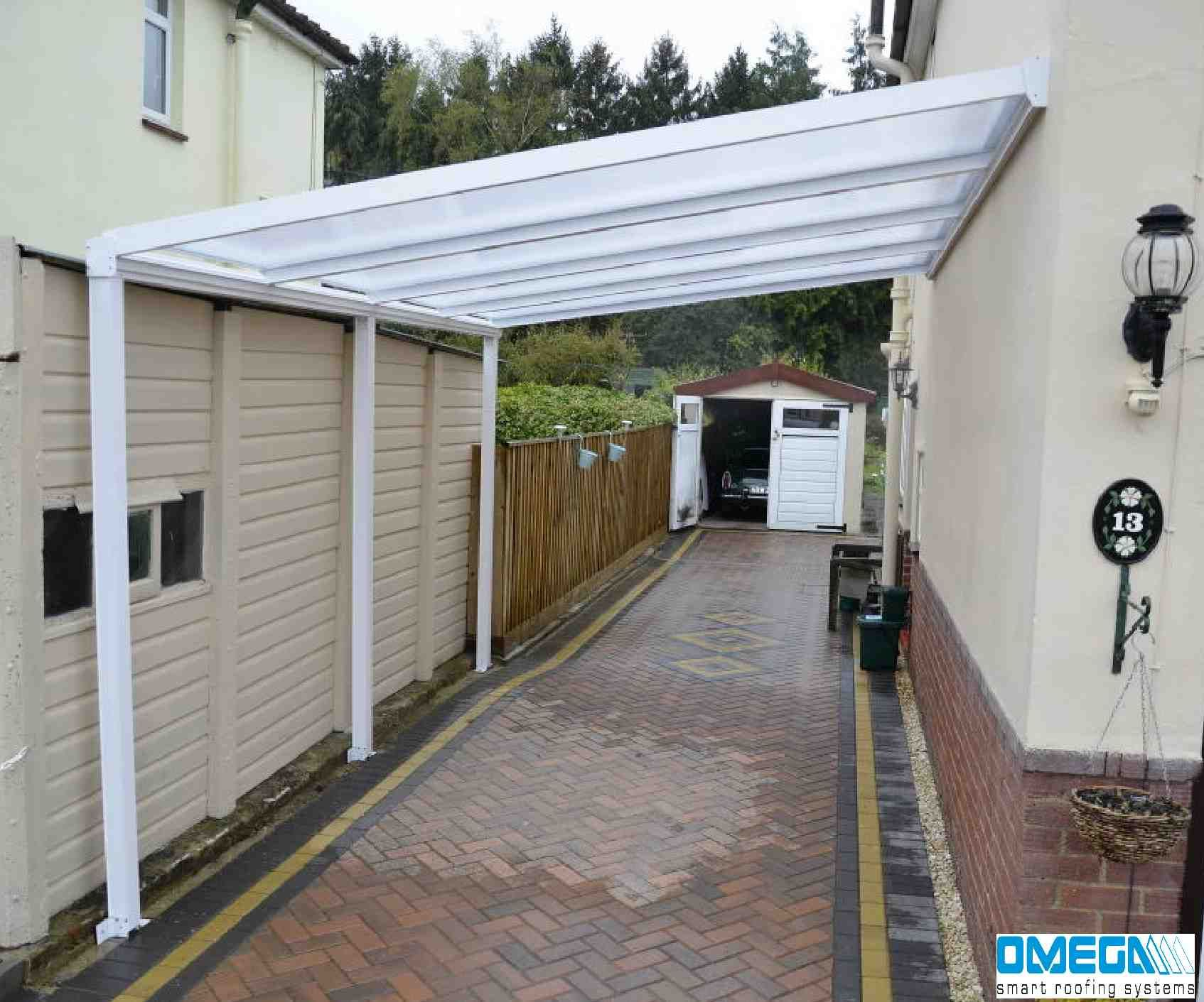 They have used a white lean to canopy to create a covered walkway/car parking : used canopies - memphite.com