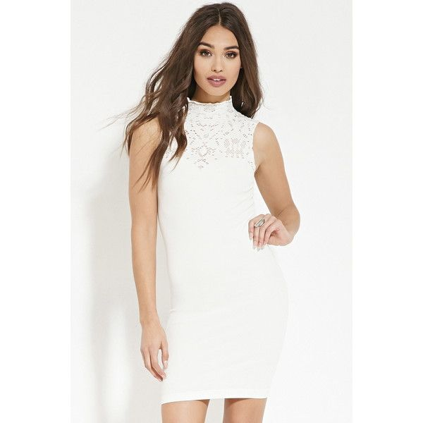 Forever 21 Women\'s Mock Neck Bodycon Dress ($18) ❤ liked on ...