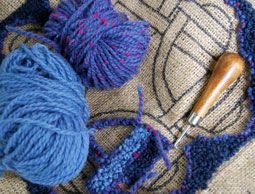 Rug Hooking With Yarn Is As Traditional Using Fabric Strips Early Century S Often Used Due To The High Cost Of Wool