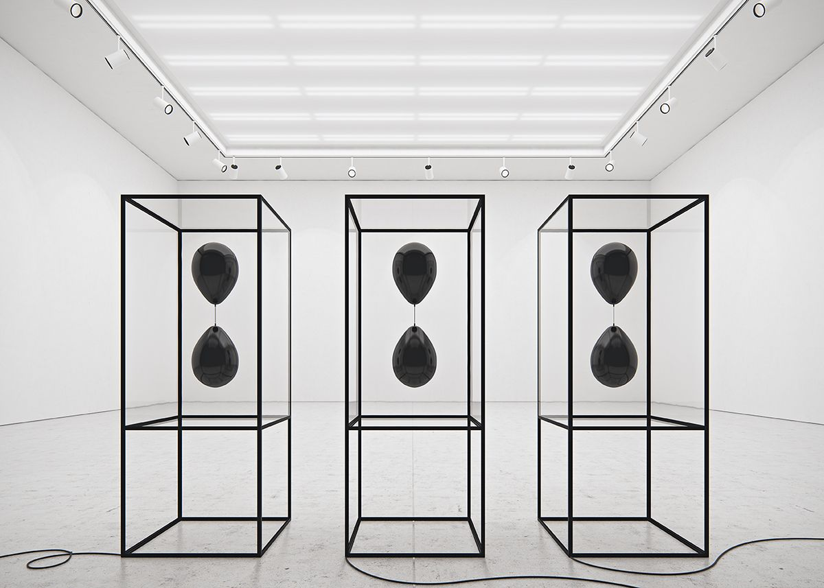 Black Balloons By Tadao Cern Art Installation Using