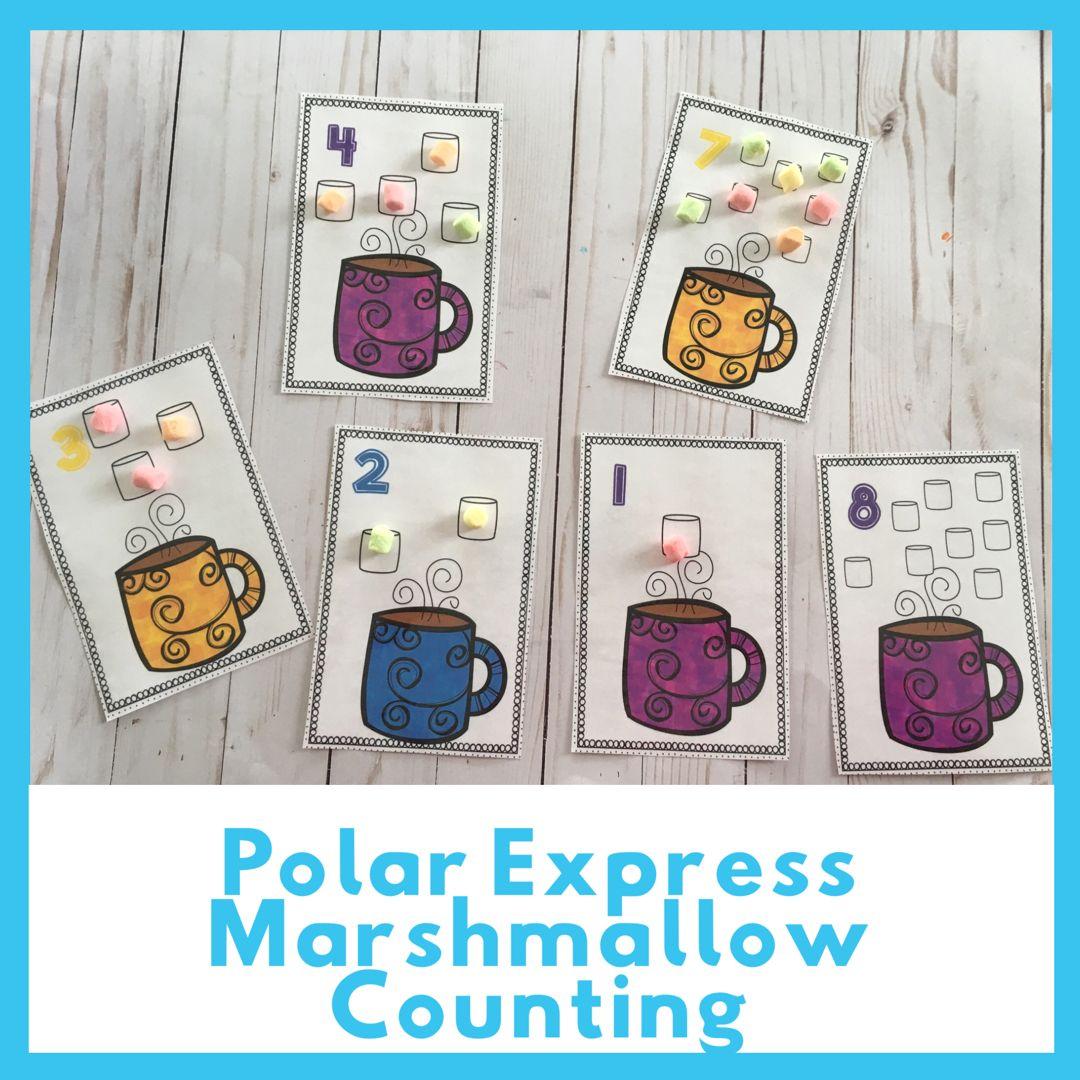 Preschool Polar Express Activities Marshmallow Counting