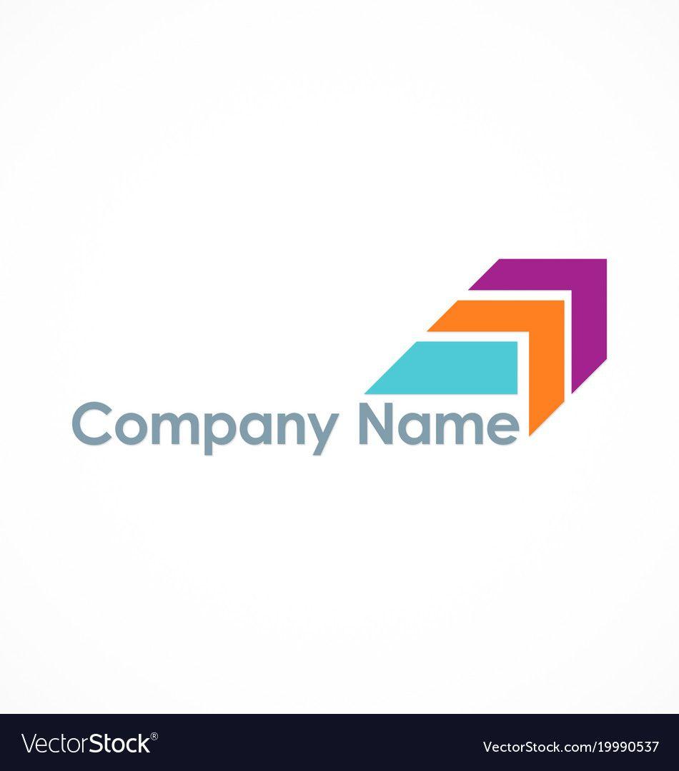Colored Arrow Company Logo Royalty Free Vector Image Aff Company Logo Colored Arrow Ad Medicine Logo Unity Logo Abstract Logo