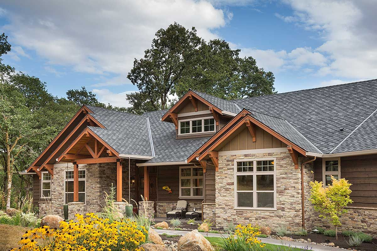 Plan 69582am Beautiful Northwest Ranch Home Plan Remodel Rustic