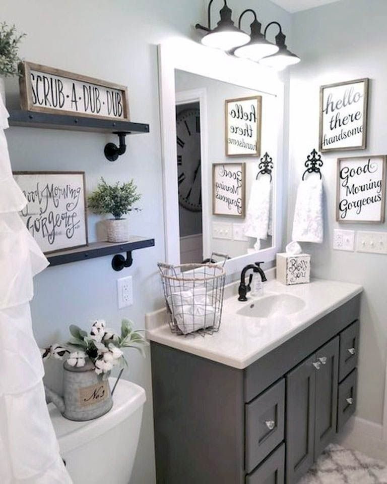 Perfect Cute Small Bathroom Decor Ideas Just On Indoneso Home Design Small Farmhouse Bathroom Farmhouse Bathroom Decor Bathroom Decor