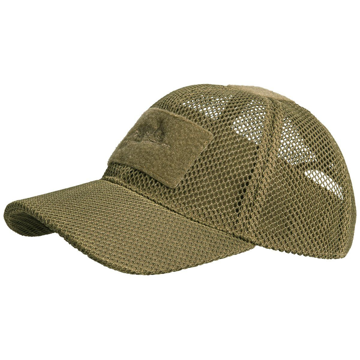 Coyote Operators Mesh Baseball Cap With ID Panels Airsoft Army Hat Kombat