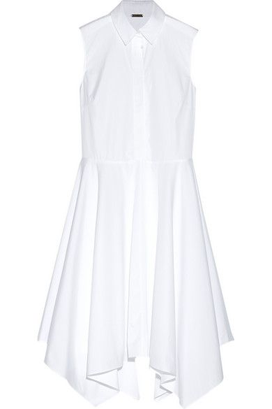 Round-neck cotton and linen-blend dress Adam Lippes uXEias5
