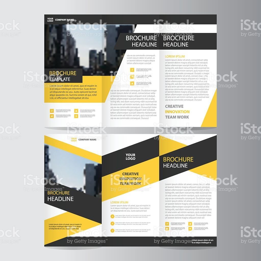 Yellow Black Elegance Business Trifold Business Leaflet Brochure