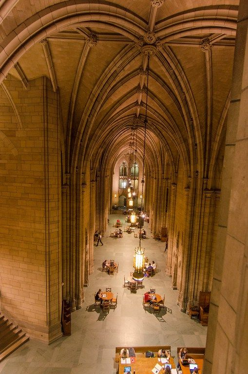 """The Cathedral of Learning, a 42-story Gothic-style educational building at the University of Pittsburgh in Pennsylvania. The building features 30 themed """"Nationality Rooms"""" that teach students about the countries and cultures around the world. Visitors can take a tour and learn more about this unique program. All proceeds from the tour benefit a university scholarship program that helps Pitt students study abroad."""