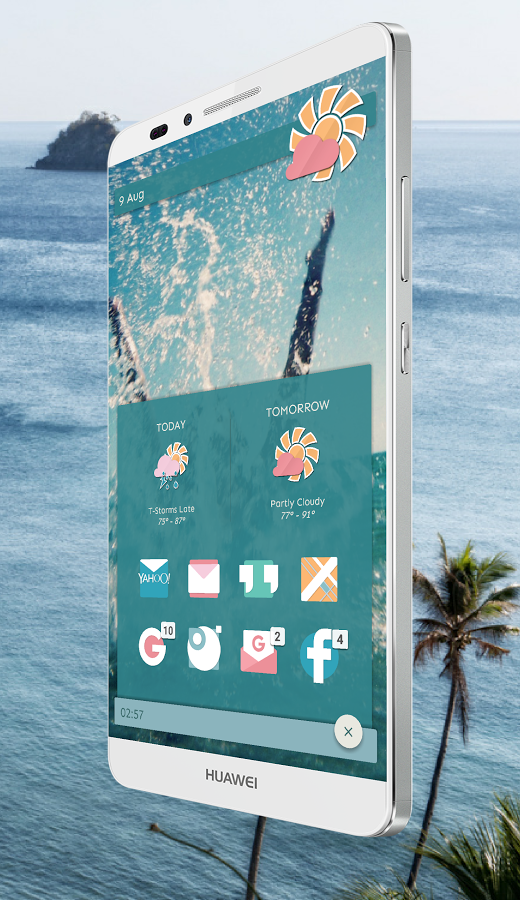 Sign in Tomorrow today, Nova launcher, Theme