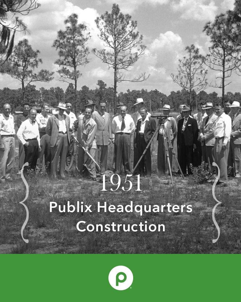 As Publix expanded in 1951, a 125,000 squarefoot