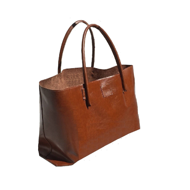 25a981847d19e XXL Shopper Ledershopper Vintage große Ledertasche Einkaufstasche für  Großeinkauf braun