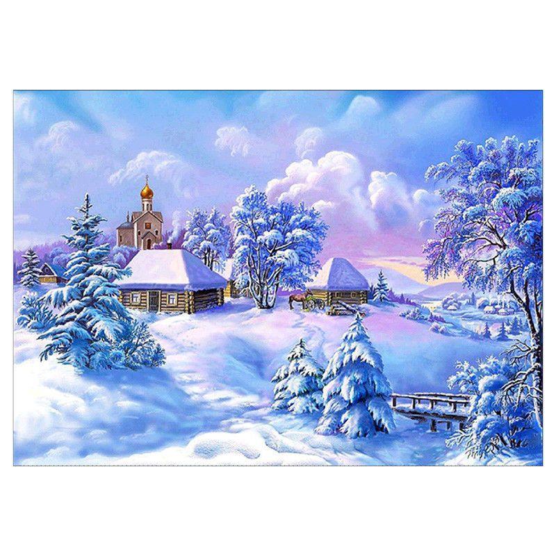 Landscape Full Drill 5D Diamond Painting Handicraft Embroidery Cross Stitch Art