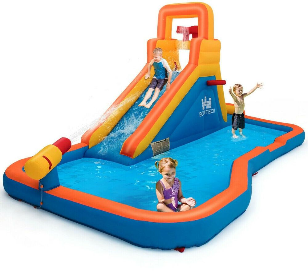Inflatable Water Park Pool Slide Kids Bouncy Castle Yard Play Climber Jumper Fun Inflatablewat Inflatable Water Slide Inflatable Water Park Kids Bouncy Castle